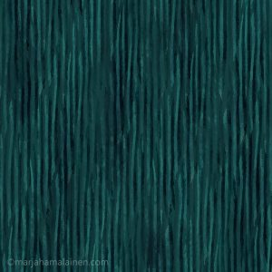 Peach and teal collection pattern 03. Thin vertical textured stripes in shades of teal on teal background.