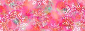 Sweet mandala pattern. White hand drawn mandalas on pink and colourful background.